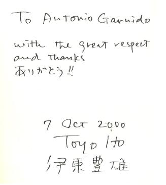 Autógrafo Toyo Ito
