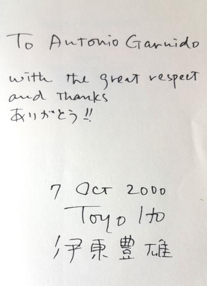 Autógrafo Ito